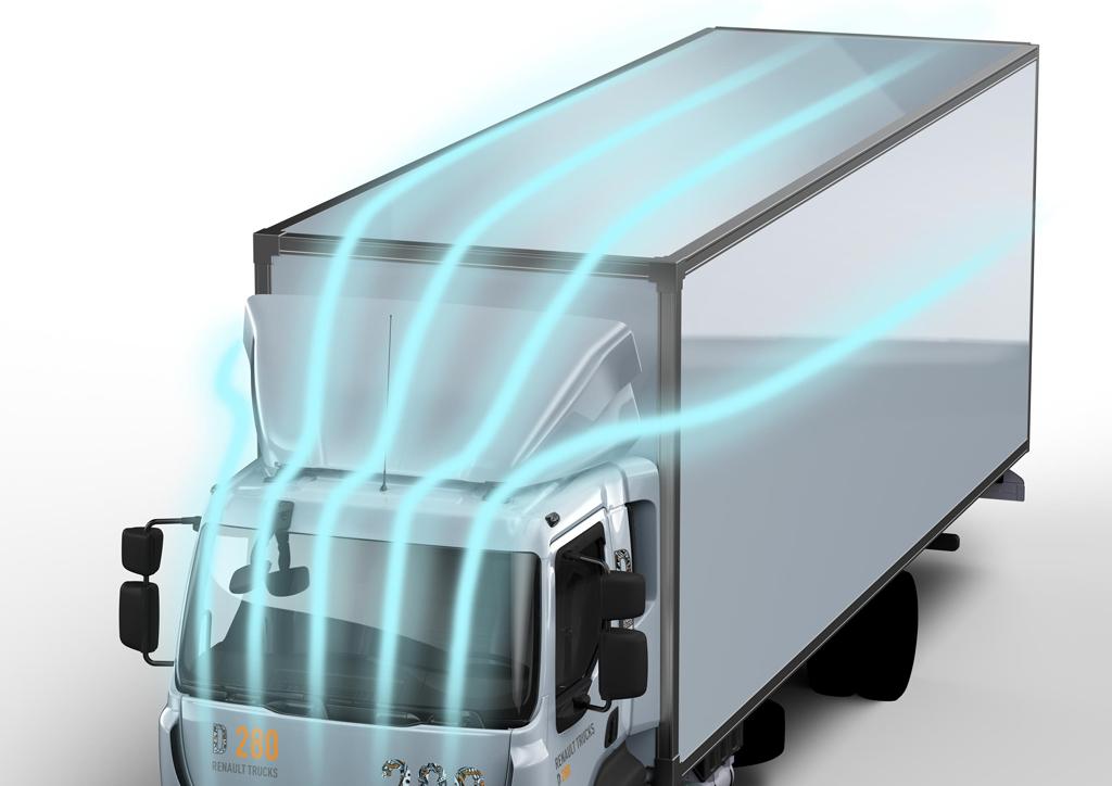 """W opcji pakiet """"Fuel Eco"""" znajduje się m.in. dopracowany aerodynamicznie, regulowany deflektor dachowy."""