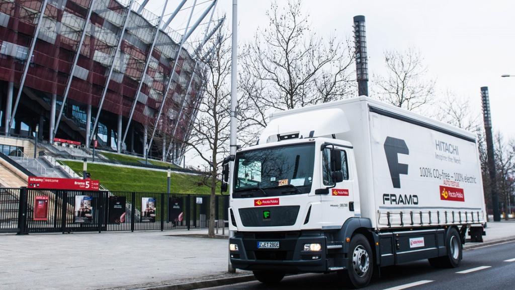 Framo: Największa elektryczna ciężarówka na testach w Poczcie Polskiej i Żabce, Magazyn Ciężarówki
