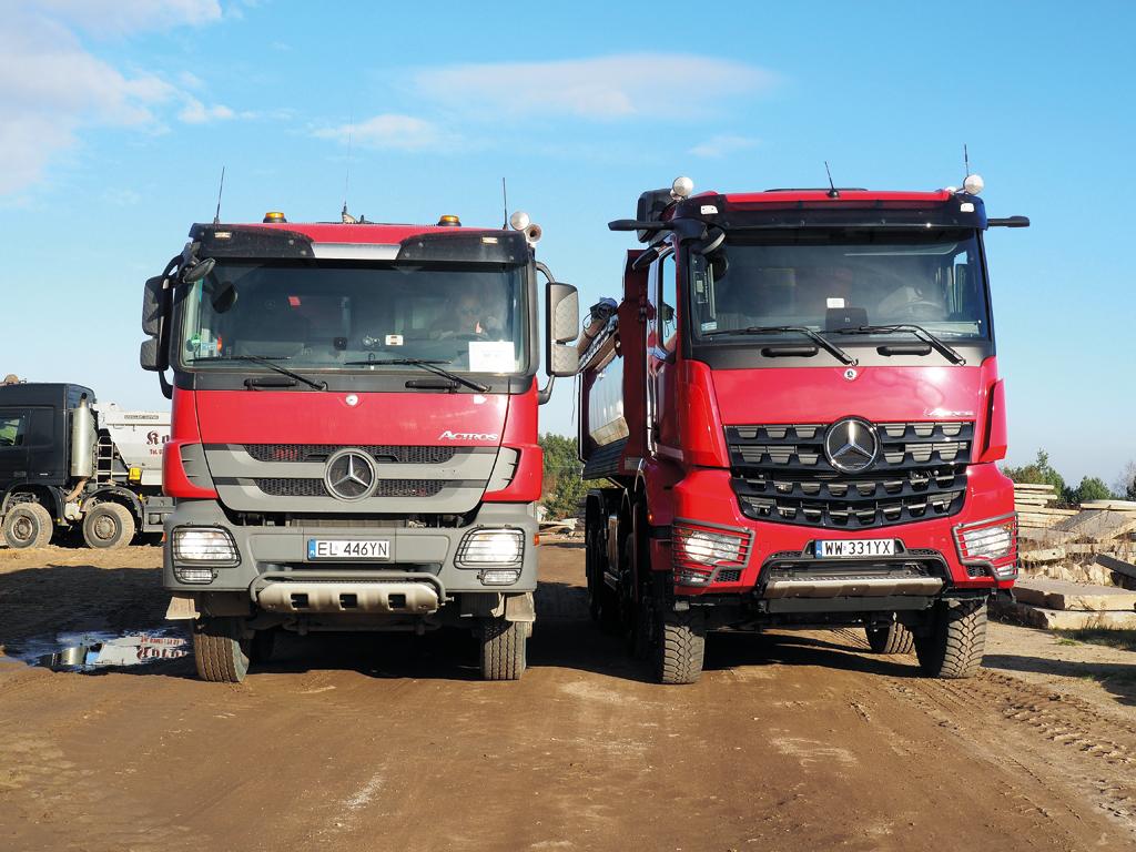 Tu widać, jak zmienił się budowlany Mercedes w zaledwie półtora pokolenia...