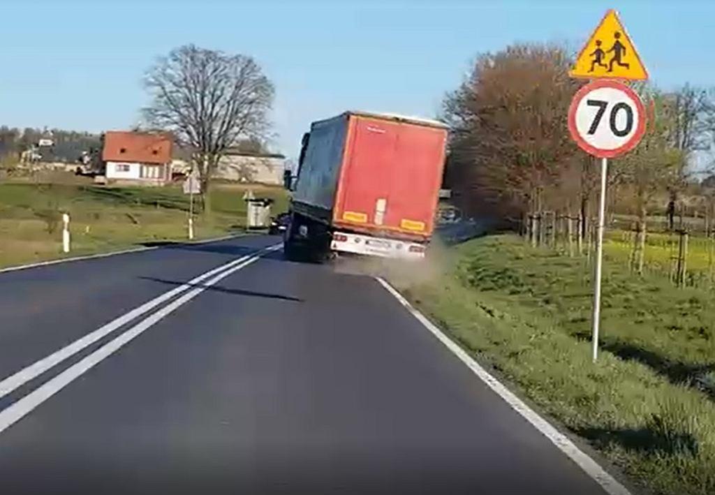 Prawo: Pijany kierowca prawie wywrócił ciężarówkę, Magazyn Cieżaówki