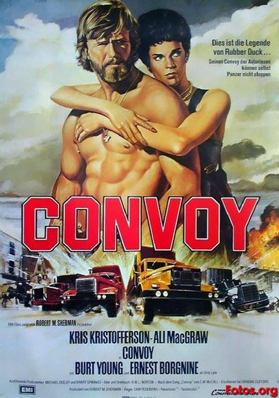 """Plakat do filmu """"Konwój"""" w reżyserii Sama Peckinpaha."""