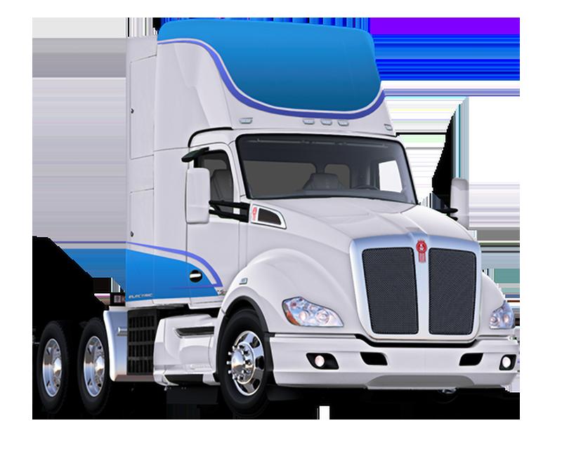 Elektryczna ciężarówka Kenworth T680 zasilana ogniwami wodorowymi.