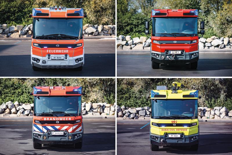Pierwsze jednostki, które zgłosiły chęć i możliwość nabycia samochodów RT to straż pożarna w Berlinie (Berliner Feuerwehr)  i Amsterdamie (Brandweer Amsterdam-Amstelland Facilitair Bedrijf) oraz obrona cywilna w Dubaju (Dubai Civil Defense).