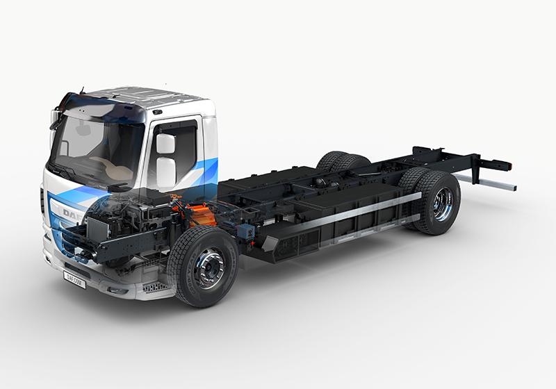 Silnik elektryczny w pojeździe LF Electric ma moc znamionową 250 kW (wartość szczytowa — 370 kW) oraz nominalny moment obrotowy 1200 Nm (wartość szczytowa — 3700 Nm).