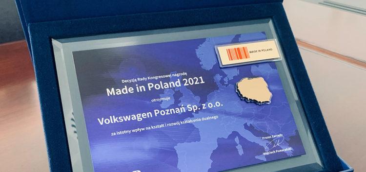 """Volkswagen Poznań z tytułem """"Made in Poland"""""""