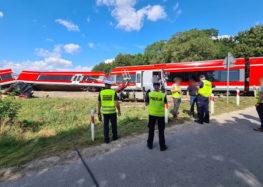 Zderzenie ciężarówki z pociągiem w pobliżu Polic